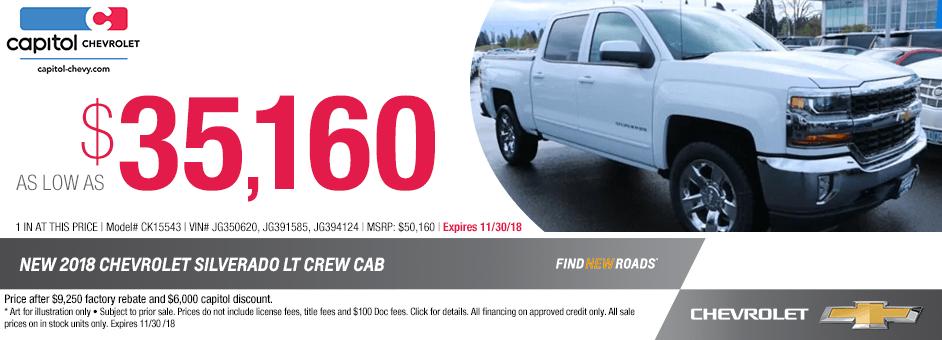 018 Chevrolet Silverado LT Crew Cab Sales Special in Salem, Oregon