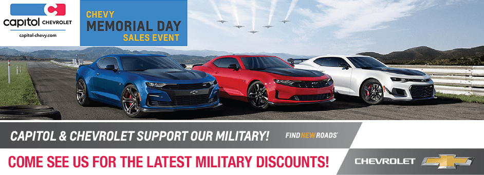 Special Memorial Day Military Discounts at Capitol Chevrolet in Salem, Oregon