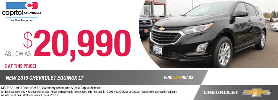 ew 2019 Chevrolet Equinox LT Special Discount Savings Offer in Salem, Oregon
