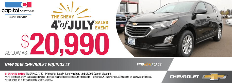 New 2019 Chevrolet Equinox LT Sales Special in Salem, Oregon