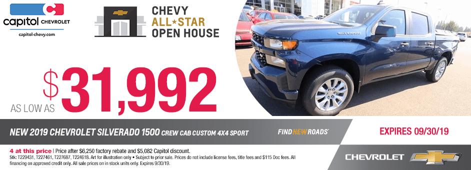 ew 2019 Chevrolet Silverado 1500 Crew Cab Special Discount Savings Offer in Salem, Oregon