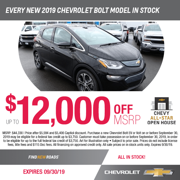 The 2019 Chevy Bolt Ev On Special Discount At Capitol Chevrolet