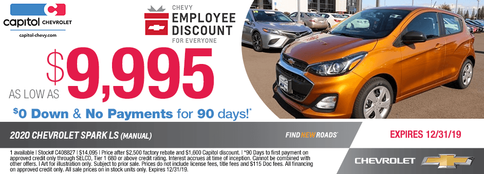 2020 Chevrolet Spark LS Manual Sales Special in Salem, OR