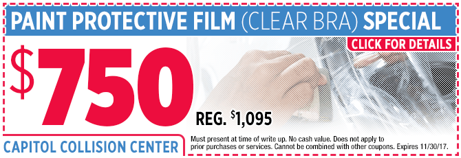 Click to save you money this month on paint protection film installation service!