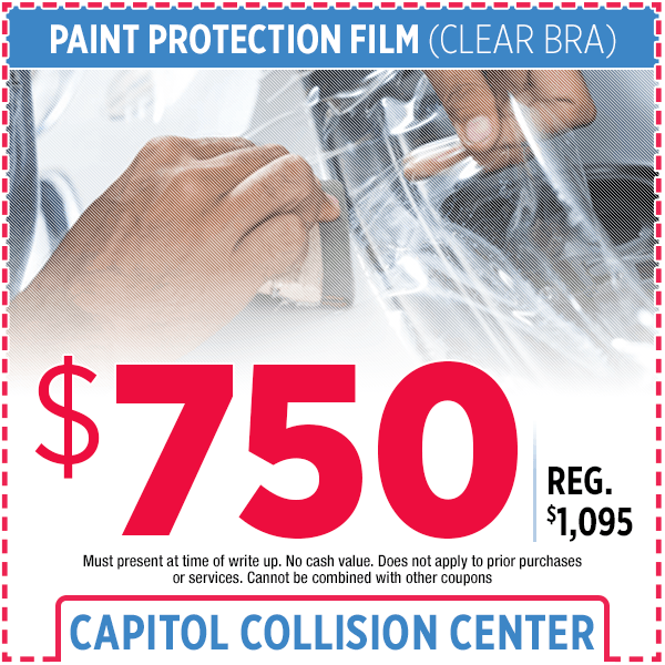 Paint Protection Film Bodyshop Special at Capitol Collision Center