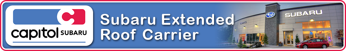 Find out more about genuine Subaru extended roof carrier in Salem, OR