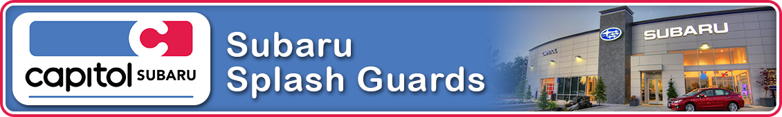 Find out more about genuine Subaru splash guards in Salem, OR