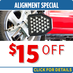 Click to save with our alignment service special in Salem, OR