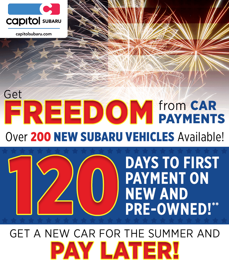 Get Freedom from Car Payments at Capitol Subaru in Salem, OR