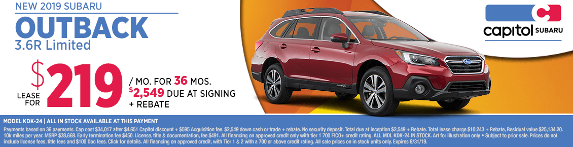 2019 Subaru Outback 3.6R Limited Lease Special in Salem, OR