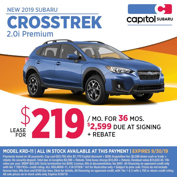 Capitol Subaru Salem Oregon >> 2019 Subaru Crosstrek Special Offers Suv Savings In Salem Or