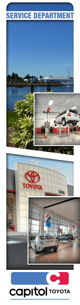 Capitol Toyota Service and Car Repair Department in Salem, Oregon