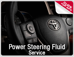 Power Steering Fluid Change service information from Capitol Toyota in Salem, OR