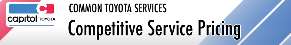 Competitive Pricing Service Information at Capitol Toyota in Salem, OR