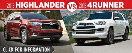Click To Compare The 2015 Toyota Highlander & 4Runner Models at Capitol Toyota Serving Salem, OR