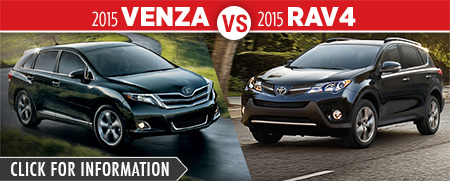 Click To Compare The 2015 Toyota Venza & RAV4 Models at Capitol Toyota Serving Salem, OR