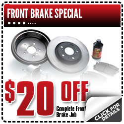 Save on a Complete Front Brake Job at Capitol Toyota this month with this coupon!