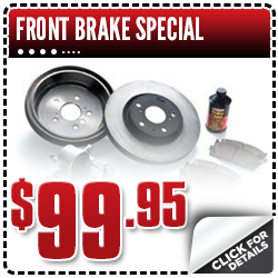 Click to view our Toyota front brake service special in Salem, OR