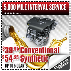 Click to view our Toyota 5k interval service special in Salem, OR
