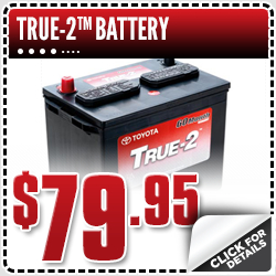 Click to View Our Toyota True-2 Battery Service Special  in Salem, OR