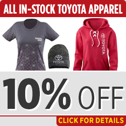 Click to View Our Toyota In-Stock Apparel Parts Special in Salem, OR