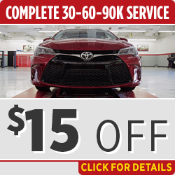 Click to View Our Toyota 30k, 60k or 90k-Mile Interval Service Special in Salem, OR