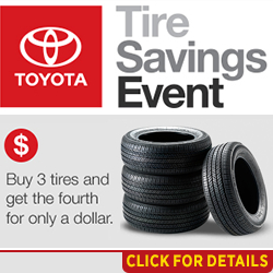 Click to View Our Toyota Tire Service Special in Salem, OR