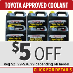 Click to save with our Toyota Coolant parts special in Salem, OR