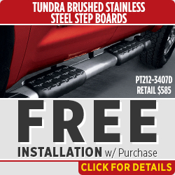 Click to save with our Toyota Tundra Step Up Boards parts special in Salem, OR