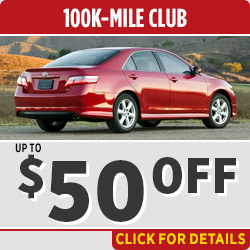 Click to view our 100k High Mileage service special in Salem, OR