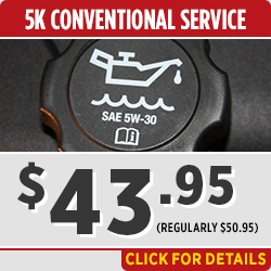 Click to view our 5k Mile Conventional Oil Change service special in Salem, OR