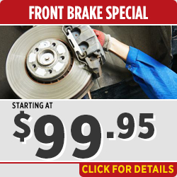 Click to view our Front Brakes Replacement & Rotor Inspection service special in Salem, OR