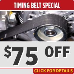Click to view our Timing Belt Replacement service special in Salem, OR