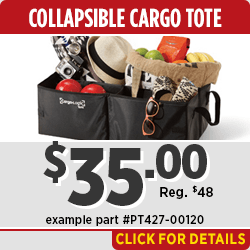 Click to View this Toyota Collapsible Cargo Tote Parts Specials in Salem, OR