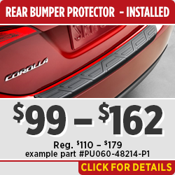 Click to View this Toyota Rear Bumper Protector Parts Specials in Salem, OR