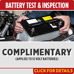 Save on our FREE Battery Test & Inspection Service at Capitol Toyota when you present this special service coupon at the service department in Salem, OR Click for details!