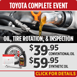 Click to Save on Your Oil Change & Tire Rotation and Multipoint Inspection Service at Capitol Toyota in Salem, OR