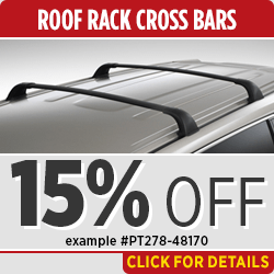 Click to View this Toyota Genuine Roof Rack Crossbars Parts Specials in Salem, OR