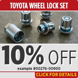 Click to View this Toyota Genuine Wheel Locks and Get Free Installation Parts Specials in Salem, OR