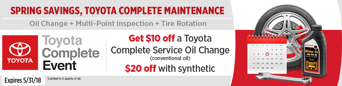 Toyota Conventional or Synthetic Oil Change Service Special this month at Capitol Toyota in Salem, OR