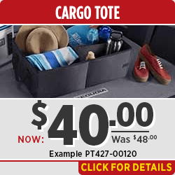 Click to browse our Toyota Cargo Tote & Organizer parts special in Salem, OR