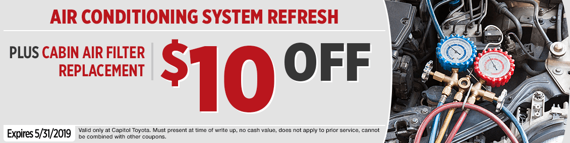 Click to Print this Air Conditioning System Refresh Service Special at Capitol Toyota in Salem, OR