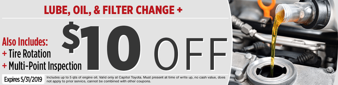 Click to Print this genuine Toyota Oil Change, Tire Rotation & Inspection Service Special in Salem, OR