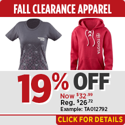 Get Special Savings on Fall Clearance Apparel at Capitol Toyota in Salem, OR