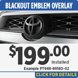 Browse our 4Runner Emblem Blackout Kit Parts Special in Salem, OR