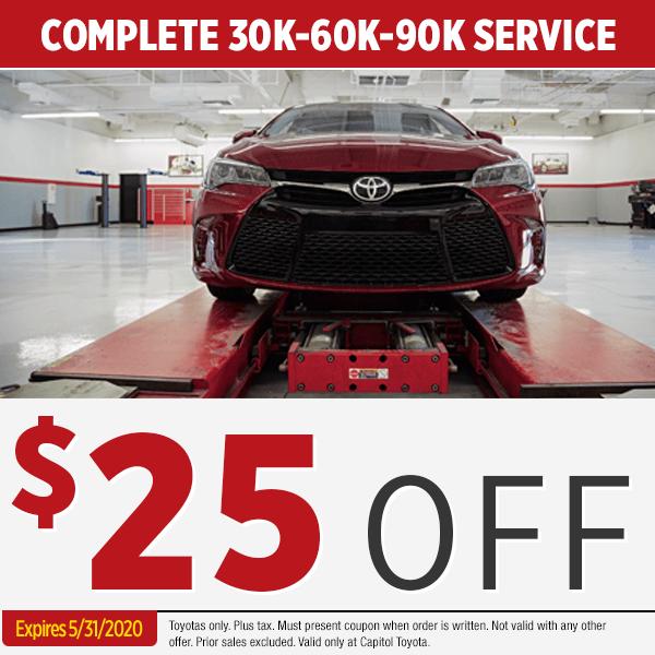 Toyota Scheduled Maintenance Coupon Savings In Salem Oregon