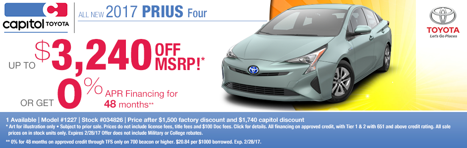 2017 Toyota Prius Four Sales Special in Salem, OR