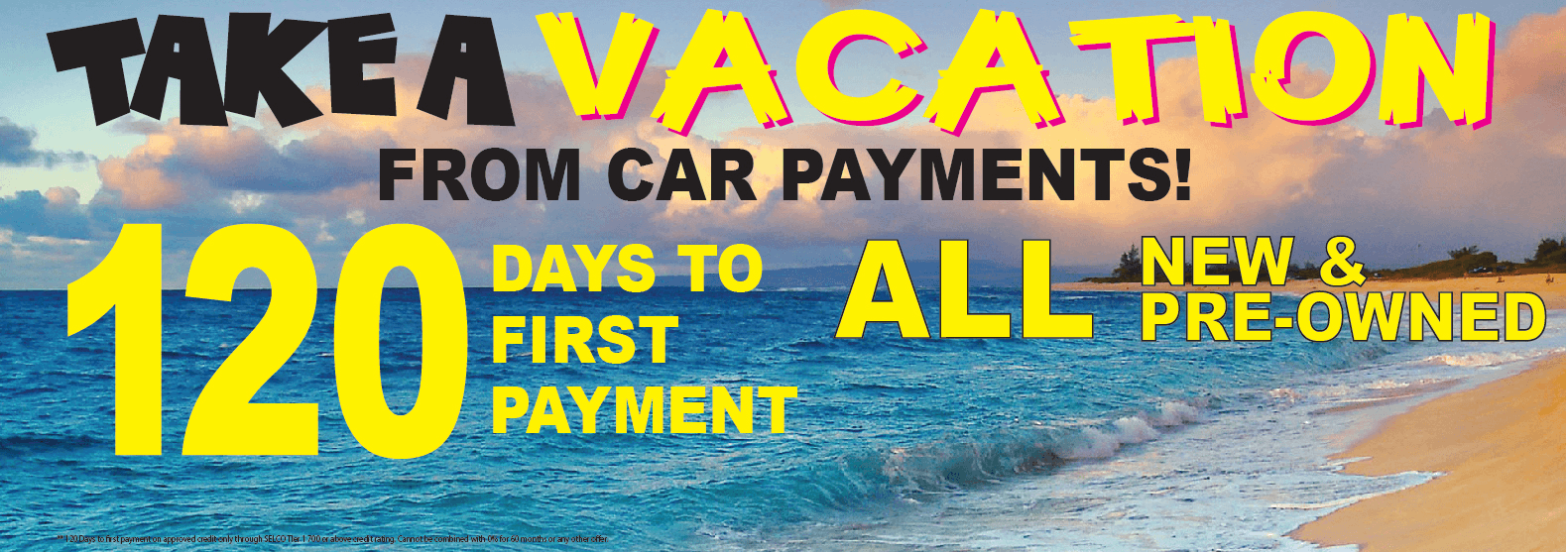 Take a vacation from interest and car payments at Capitol Toyota in Salem, OR