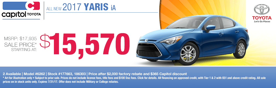 2017 Toyota Yaris iA Sales Special in Salem, OR