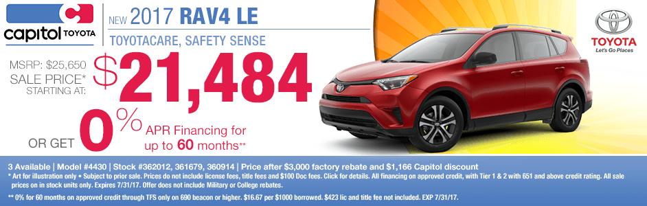 2017 Toyota RAV4 LE Sales Special in Salem, OR